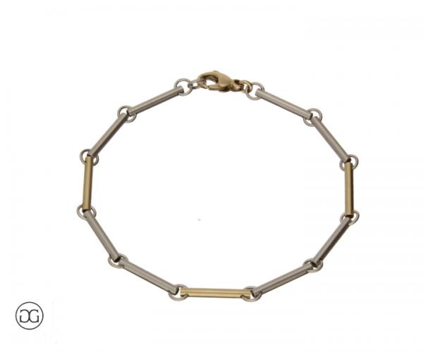 Armband Platin 950/Gelbgold 750