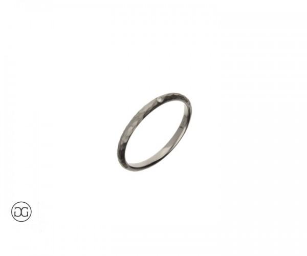 Verlobungsring Weißgold 750 mit Brillant 0,01ct