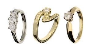 Auswahl Ringe mit Chatonfassung